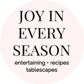 Joy in Every Season {food blog}