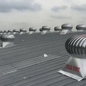 Turbin ventilator atap pabrik gudang industri