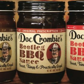 Doc Crombie's Bootlegg BBQ, Hot, and Steak Sauces