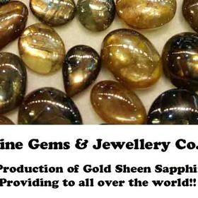 Top Quality Gold Sheen Sapphire Faceted   Natural Loos Gemstone Best For Jewellery..