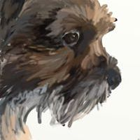 Dog paintings and prints by Oscar Jetson