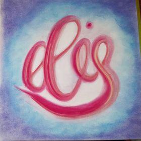 Elis diy artwork: pastelchalk, watercolour, lettering