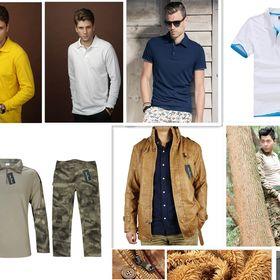 GenericMen Turn Down Collar Long Sleeve Basic Polo Pullover Tshirt Top