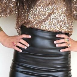 Leather and Sequins