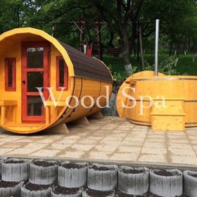 Wood Spa Eu Dézsa Fürdő Hordó Szauna Hot Tub Outdoorsauna Sauna Ciubar