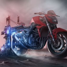 Blau ABM Lenkerende shortCap für Motorradlenker Lenkergewicht