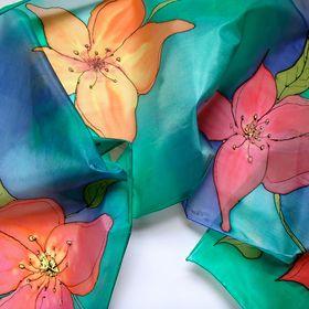 Rebecca Bennett silk painting