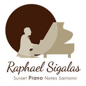 Sunset Piano Notes Santorini