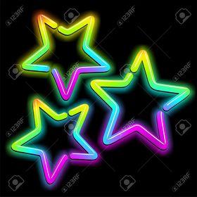 Spotty//Dotty Star Botones X 10-Mezcla de Colores