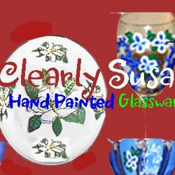 Clearly Susan Custom Hand painted Glassware And Wine Glasses
