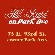 Hall Rentals on Park