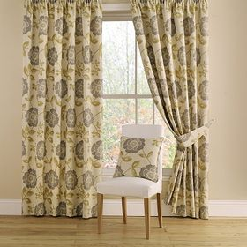 Catherine Lansfield Lattice Downstairs Fully Lined Eyelet Curtains Charcoal Grey