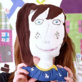 Scatterpillar Designs, children's textiles, textiles, Children's drawings, softies