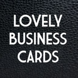 Lovely Business Cards
