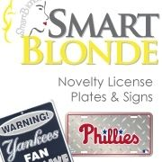 Smart Blonde® Novelty License Plates and Signs