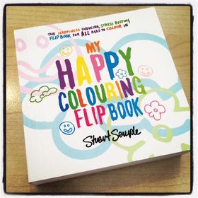 Adult Colouring Happy Colouring Flip Book