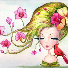 Julia Spiri. Watercolor painting, Pop surrealism, Fantasy Art