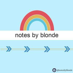 notatki blondynki