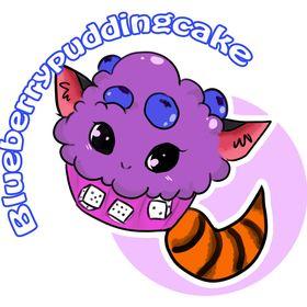 Blueberry puddingcake