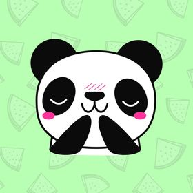 Panda loves veggies