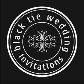 Black Tie Wedding Invitations