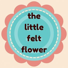 the little         felt flower