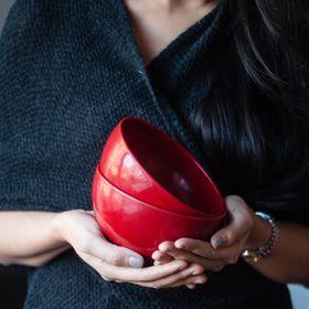 cynthia | two red bowls
