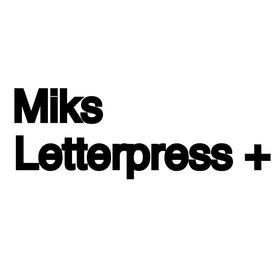 Miks Letterpress + Modern Wedding Invitations & Greeting Cards