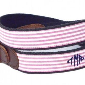 RedFish Belt or Sailboat on Navy Ribbon with Cotton//Leather Ends