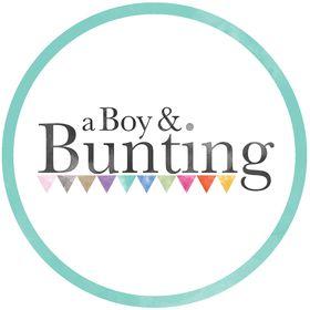 a Boy & Bunting