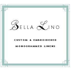 Bella Lino Custom Linens-Monogrammed Linens-Bed, Bath & Table Linens