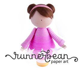 Runnerbean Paper Art