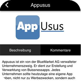 AppUsus by BlueMarket AG