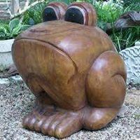 Sitting Bullfrog