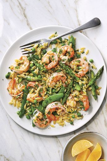 Orzo Salad with Shrimp and Lemon Dressing