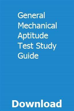 General Mechanical Aptitude Test Study Guide