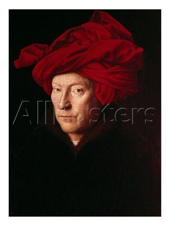 Portrait of a Man Art by Jan van Eyck