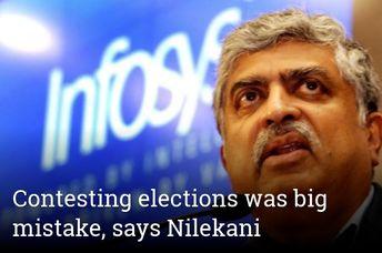 Contesting elections was big mistake, says Nilekani