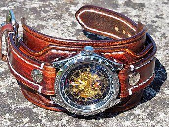 c3f14cc52 Pánske hodinky, kožený hnedý náramok II / leon - SAShE.sk - Handmade Náramky