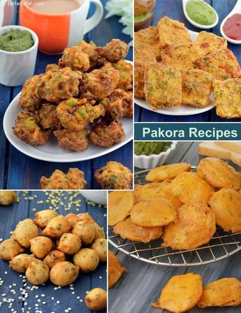 31 Pakora Recipes, Collection of Pakoda Recipes, Veg Indian Fritters