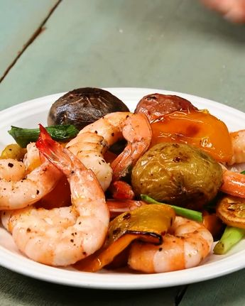 This dinner is absurdly easy but don't lose your sheet over it or anything. Sheet Tray Shrimp and Potatoes: #tastyfoodvideos #easyrecipes #healthyrecipes #keto #glutenfree #sheettrayshrimp #dinner #dinnerrecipes #dinnerideas