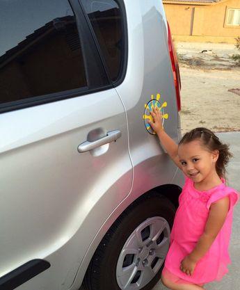 Safety Spot -Custom childrens safety handprint - vinyl car decal