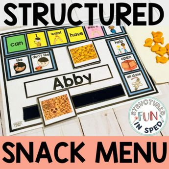 Core Vocabulary AAC for Preschool Snack Time