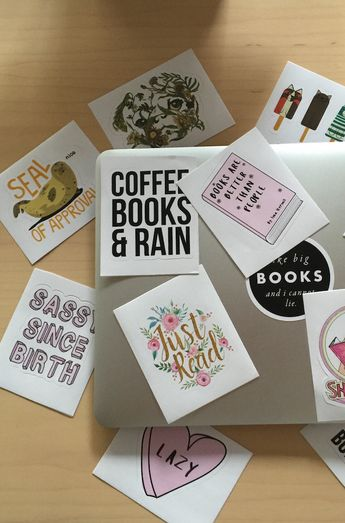 Hipster Books Stickers