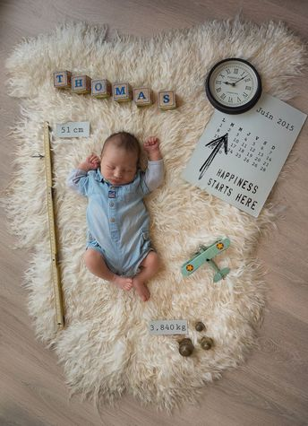 Photo pour le faire part de naissance de notre petit garçon