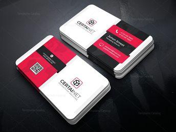 Carbon Elegant Corporate Business Card Template 000934 - Template Catalog