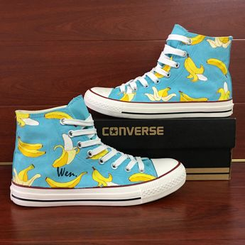 b97f90d662bf Original Design Converse All Star Shoes Hand Painted Bananas Canvas Sneakers