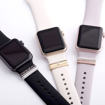 rose gold Glam Stack™ stacking rings - Apple Watch accessory