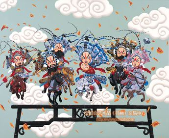 杜溪 油画 《常胜将军-赵子龙》  Du Xi's Old Painting * Three Kingdom