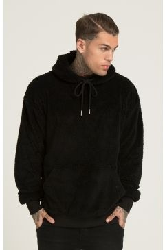 6ecfb9b580c2 Illusive London - Borg Fleece Overhead Hoodie - Black